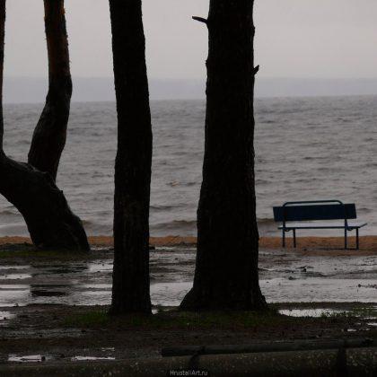 Пляж, осень