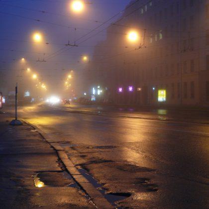 Питер, туман