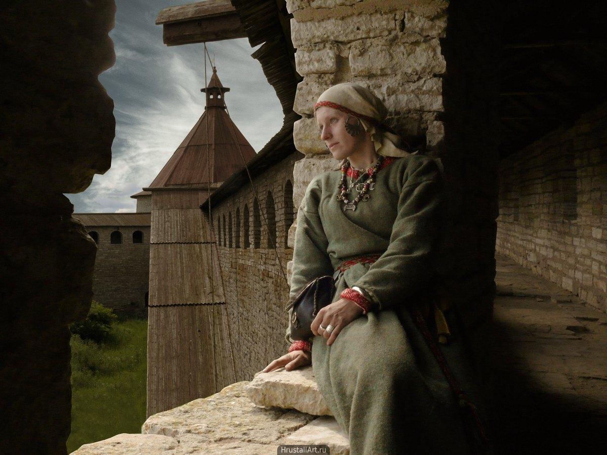 Женский портрет в крепости Орешек