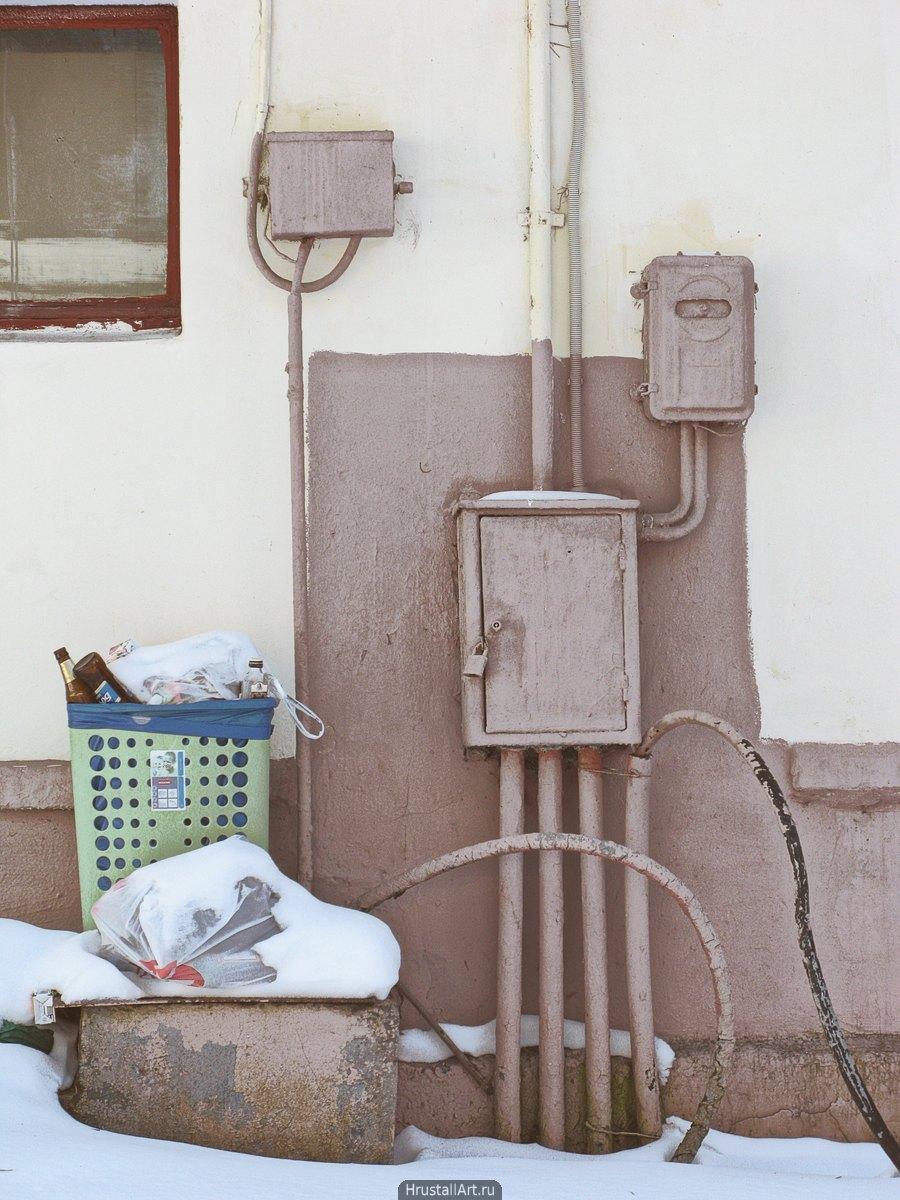 Электрические щитки и мусор